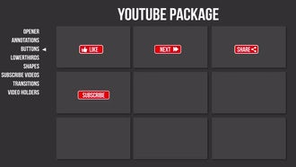 Youtube Package: Premiere Pro Templates