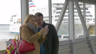Happy Couple Takes Selfie : Stock Video