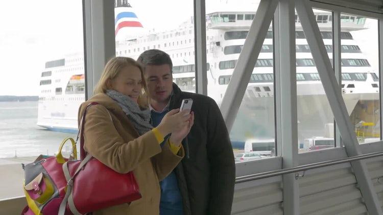 Happy Couple Takes Selfie : Stock Video