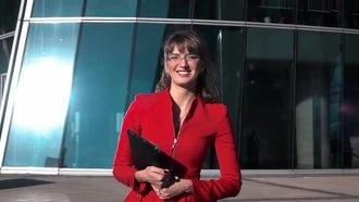 Businesswoman Walking In Slow Motion: Stock Video