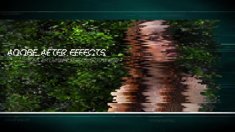 Epic Glitch Slideshow: After Effects Templates