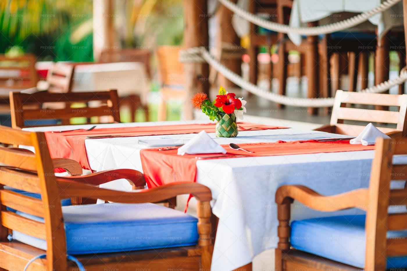 Open Air Restaurant: Stock Photos