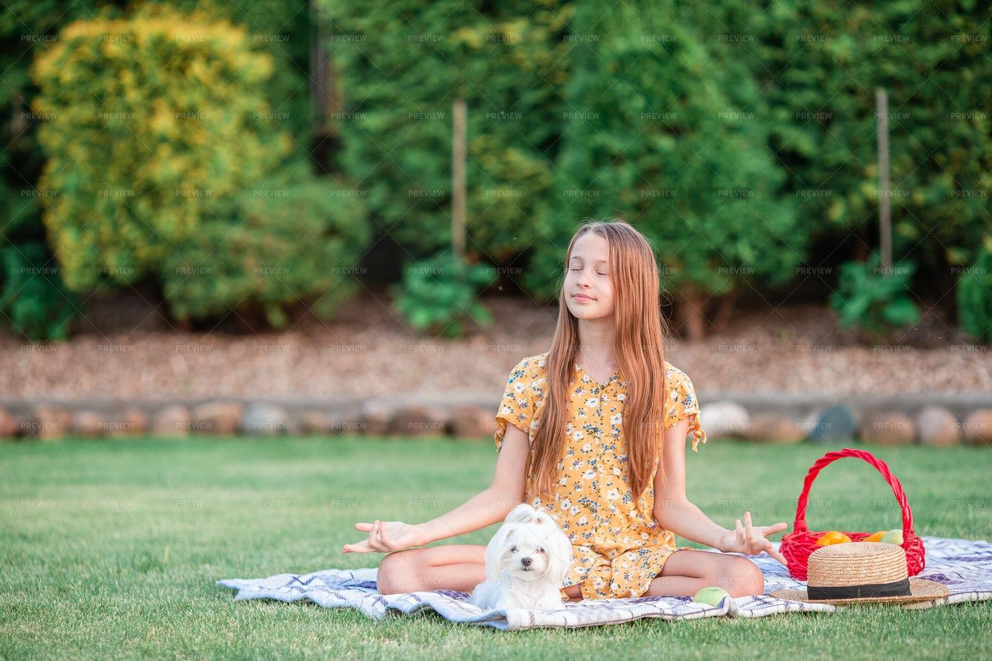 Girl In Yoga Position: Stock Photos