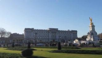 London Buckingham Palace Hyperlapse: Stock Video