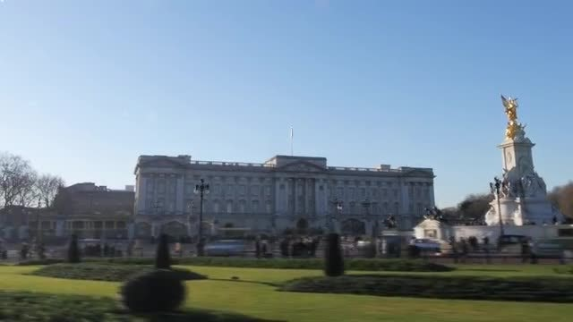 London Buckingham Palace Hyperlapse: Stock Video