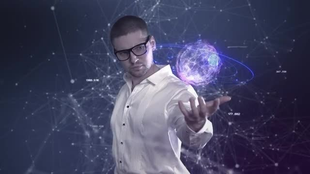 A Male Scientist: Stock Motion Graphics
