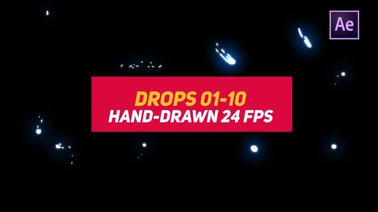 Liquid Elements 2 Drops 01-10: After Effects Templates