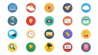 Flat Animated Icons: After Effects Templates
