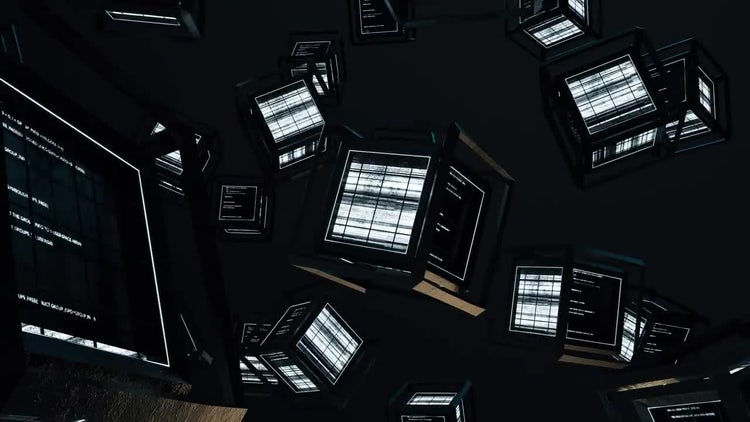Looping Code Cubes: Stock Motion Graphics