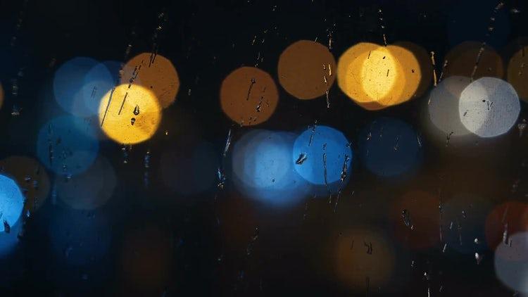Raindrops On Window: Stock Video