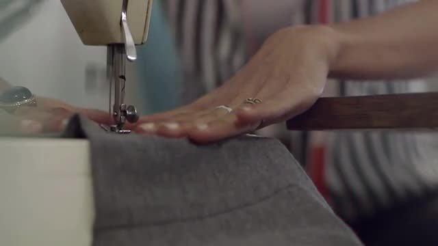 Working On Sewing Machine: Stock Video