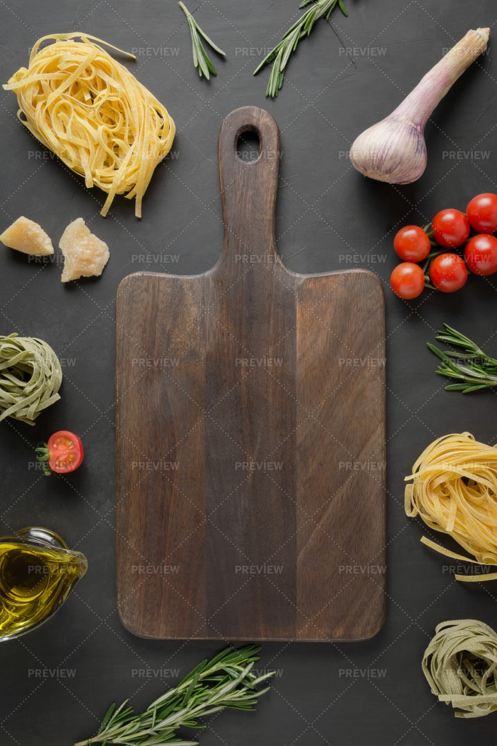 Board And Raw Food: Stock Photos