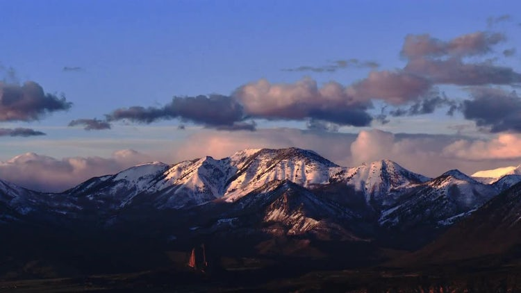 Rocky Mountains Sunset Time-Lapse: Stock Video