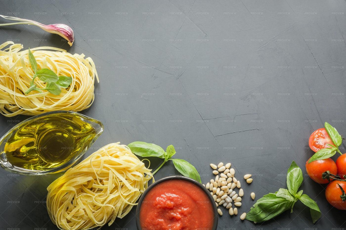 Pasta Ingredients: Stock Photos