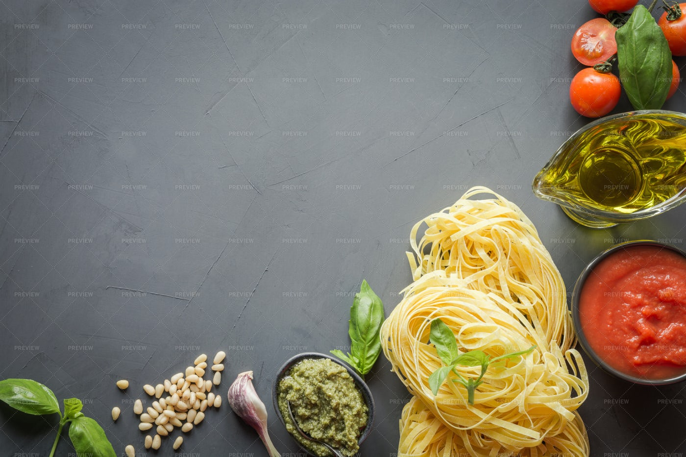 Ingredients For Pasta: Stock Photos