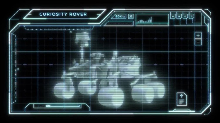 Curiosity Rover Heads Up Display: Motion Graphics