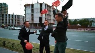 Businessmen Celebrating Success: Stock Video