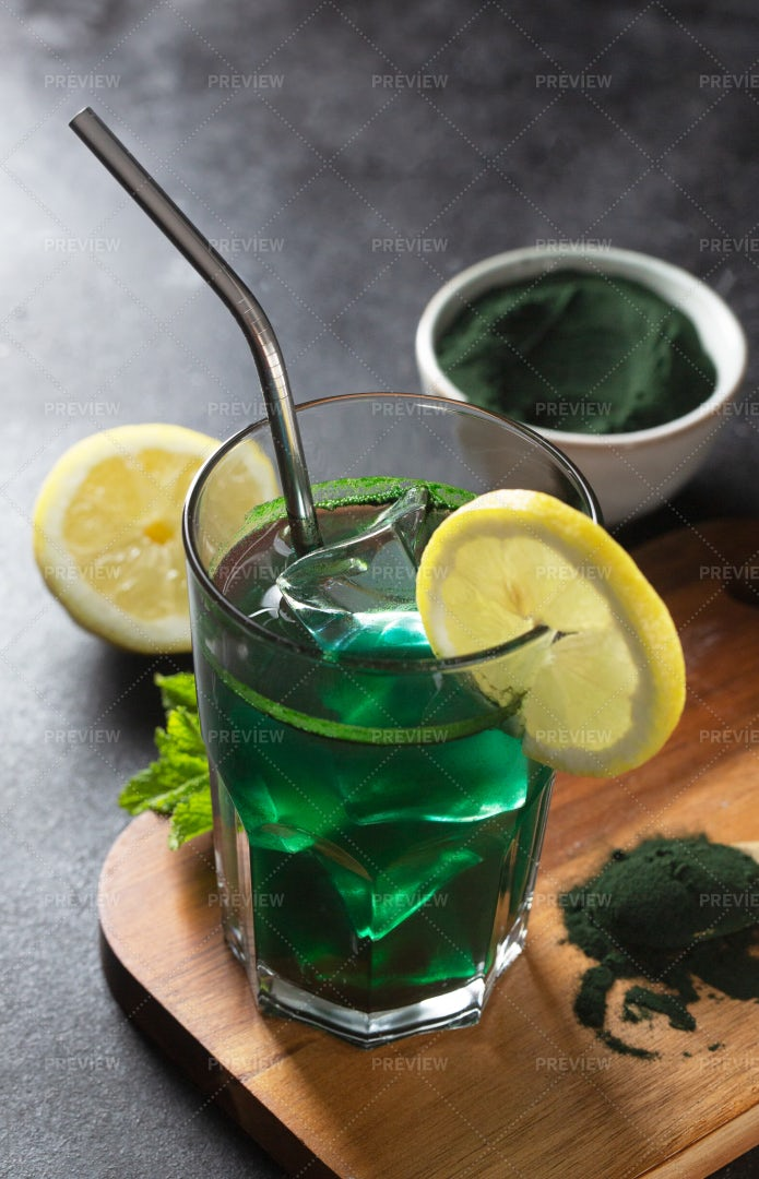 Green Drink: Stock Photos