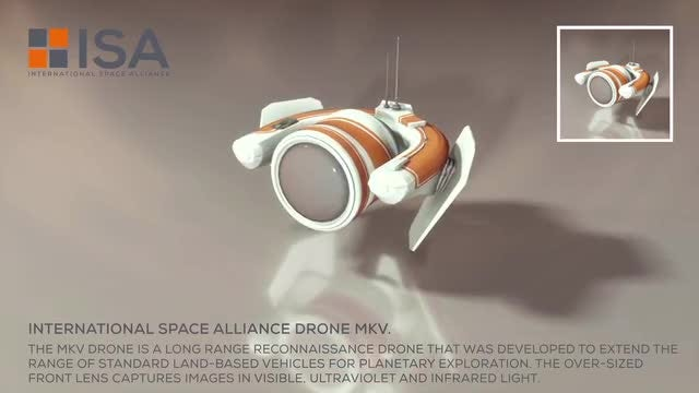 International Space Alliance Drone: Stock Motion Graphics