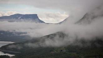Misty Mountain Landscape Time Lapse: Stock Video