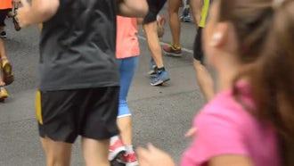 Half Marathon Race Participants: Stock Video