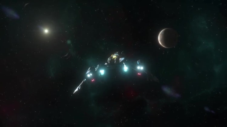 Spaceship Going To Warp Pack: Stock Motion Graphics