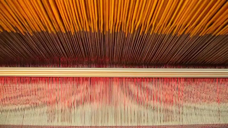 Automatic Carpet Weaving Loom: Stock Video