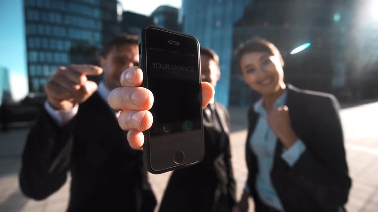 Young Entrepreneurs Celebrating Success : Stock Video