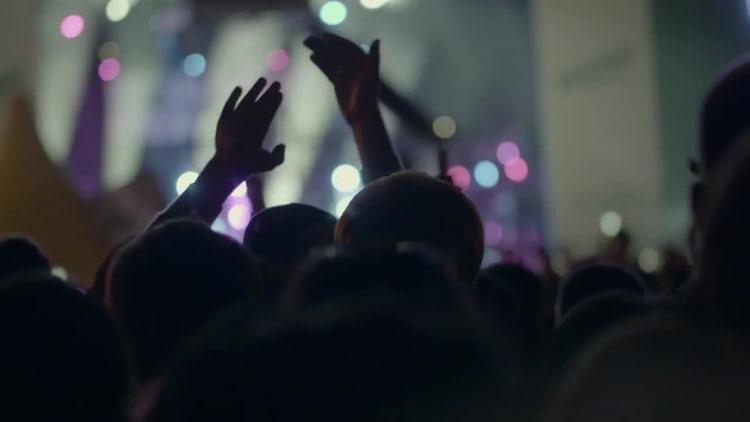 Crowd Enjoying Music At Concert: Stock Video