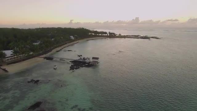 Aerial View Of Mauritius Beach: Stock Video
