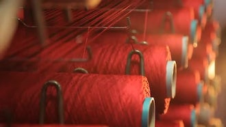 Yarn Weaving Department: Stock Video