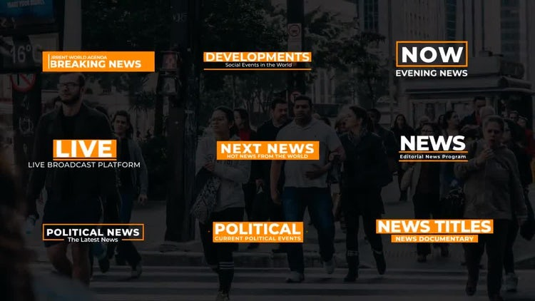 News Text Titles Ver 0.3 – After Effects Templates | Motion Array Free Download