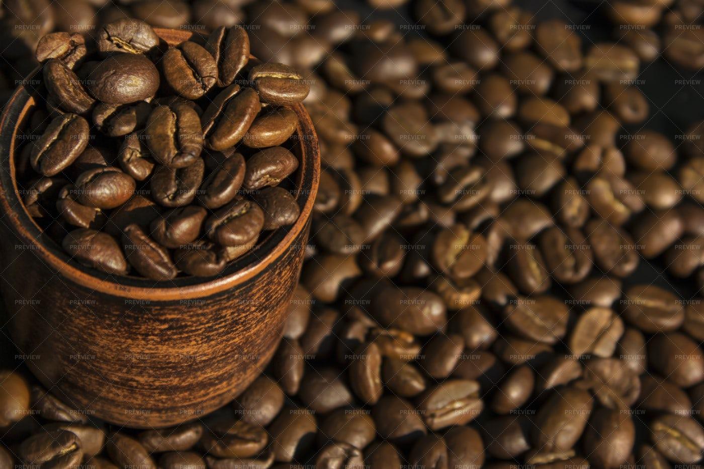 Brown Coffee Beans: Stock Photos