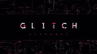 Modern Glitch Alphabet: After Effects Templates