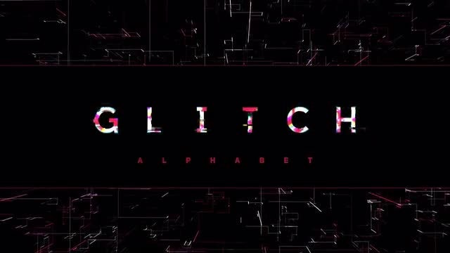 Modern Glitch Alphabet: After Effects Templates