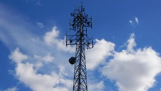 Cellphone Tower With Clouds : Stock Video