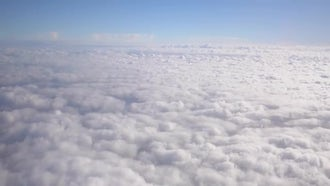 Flying Above Thick White Clouds: Stock Video