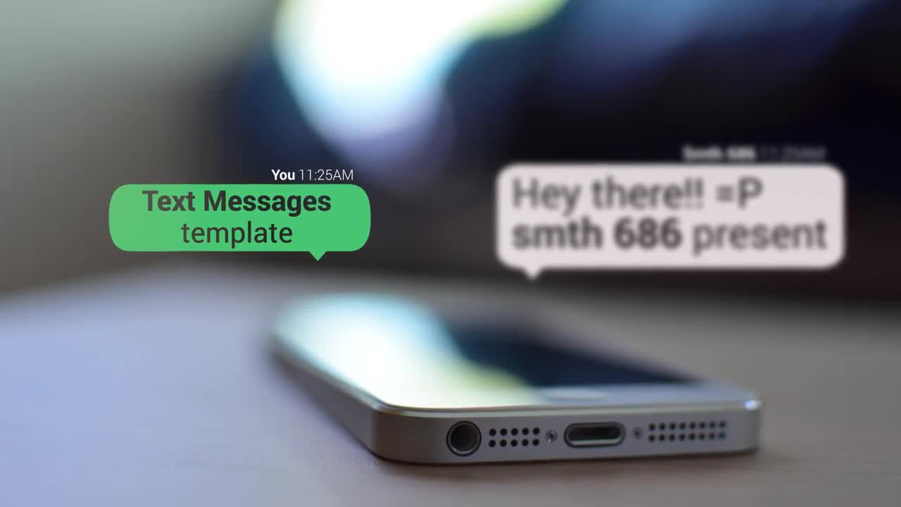 text messages after effects templates motion array