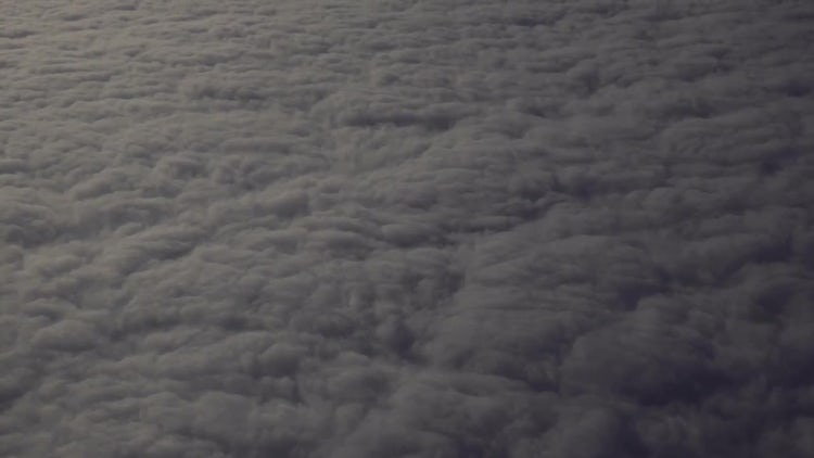 Flying Above Thick Dark Clouds: Stock Video