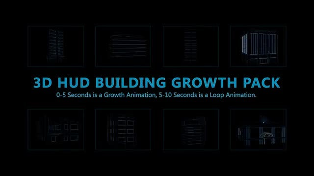 HUD Building Pack 01: Stock Motion Graphics