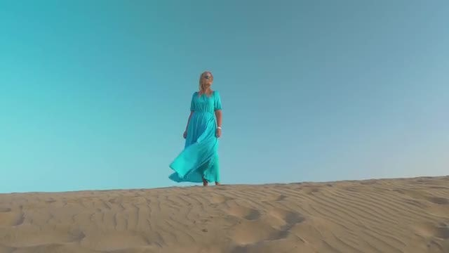 Woman Beginning Free Life: Stock Video