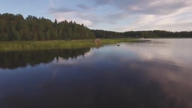 Flying Over Water Landscape Aerial: Stock Video