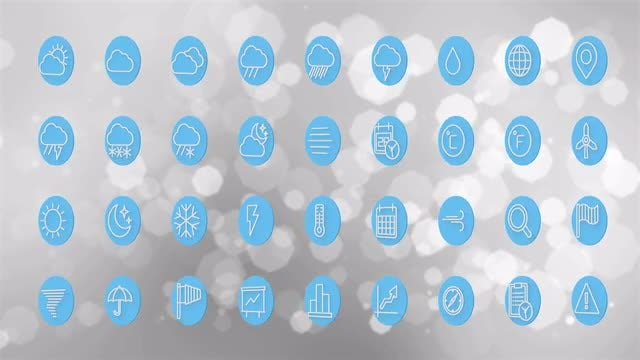 Weather Icons: Stock Motion Graphics