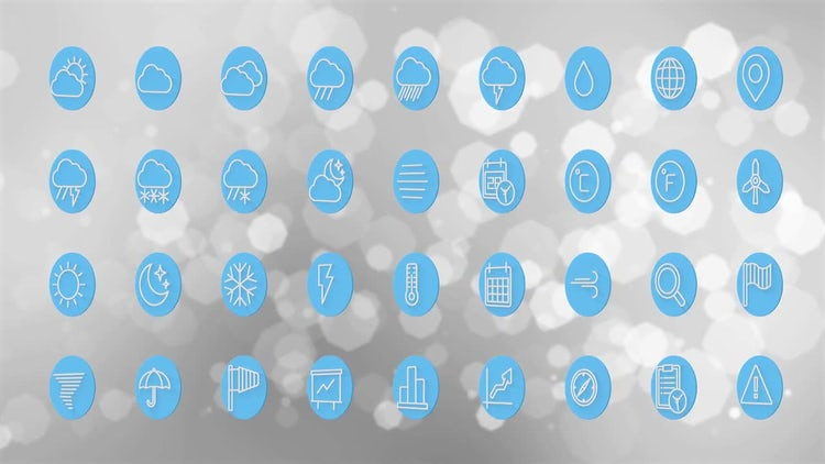 Weather Icons: Motion Graphics