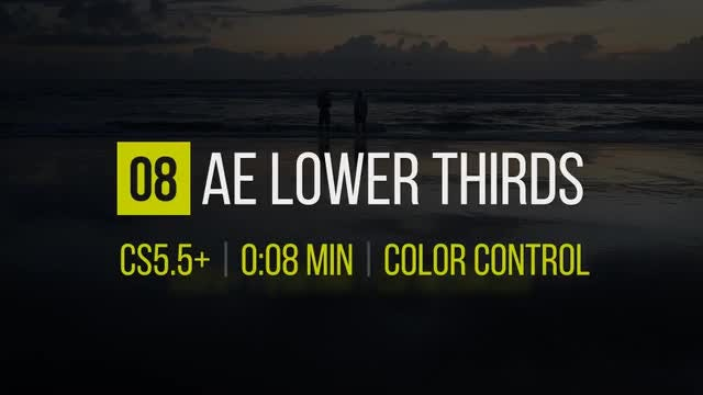 8 Lower Thirds: After Effects Templates