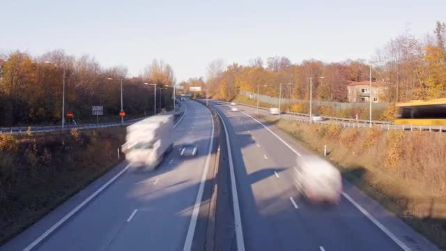 Fast Cars Traffic Time Lapse: Stock Video