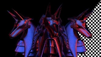 Anubis Head VJ Loop: Motion Graphics