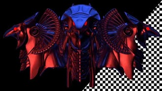 Rotating Horus Heads VJ Loop: Motion Graphics