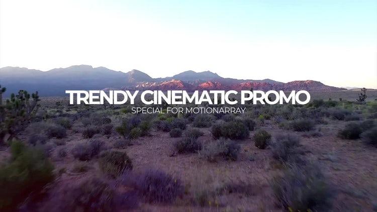 Trendy Cinematic Promo: Premiere Pro Templates