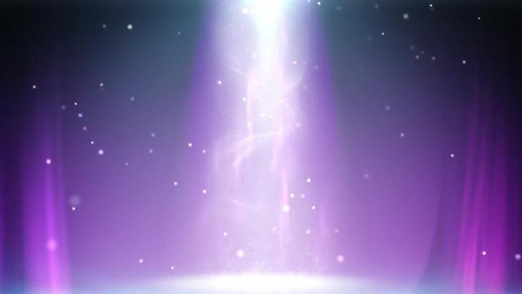 Magic Light Column Loop: Stock Motion Graphics